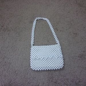 Vintage Plastic Bead Purse Shoulder Bag